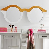 3-D Glasses, Wood And Mirror