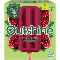 Outshine Pomegranate Frozen Fruit Bars 6 Pack