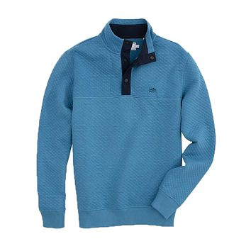 Prospect Quilted Pullover in Deep Water by Southern Tide