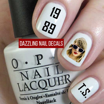 Taylor Swift 1989 Nail Decals