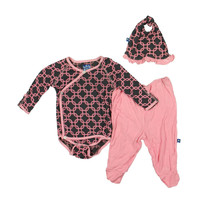Kickee Pants Newborn Girls 3PC Pant Outfit