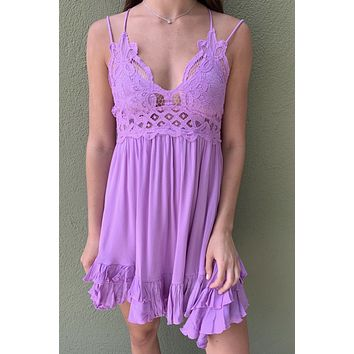 Stay With Me Dress- Lavender