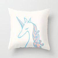 unicorn Throw Pillow by chocomocacino