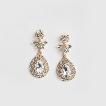 Marlene Crystal Teardrop Dangle Earrings