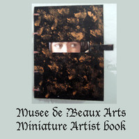 Artist handmade book , mini journal, coptic stitch