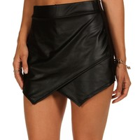 Sale-black Edgy Skort