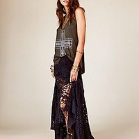 Free People  FP ONE Patchwork Lace Maxi Skirt at Free People Clothing Boutique