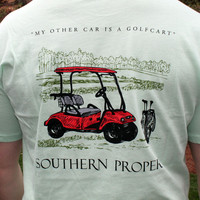 My Other Car is a Golf Cart Tee in Mint Green by Southern Proper