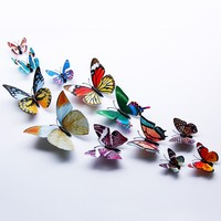 3D Luminous Single Wing Butterfly Vinyl Wall Stickers