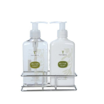 Thymes Sink Set with Caddy, Olive Leaf