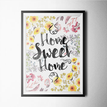Watercolor - Home Sweet Home