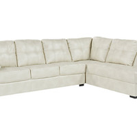 Bexley Square Cream 2 Pc Sectional - Living Room Sets (Beige)
