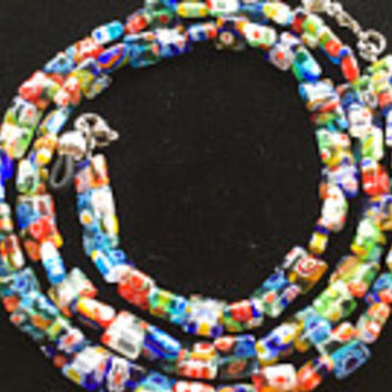 Multicolored Beaded Eyeglass Chain