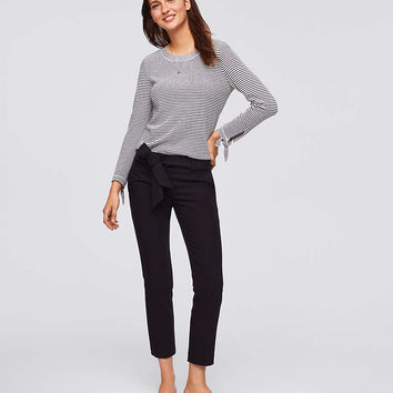Petite Slim Tie Waist Pants in Marisa Fit | LOFT