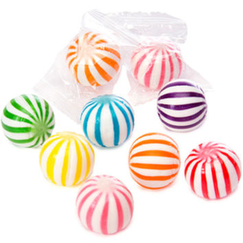 Assorted Sassy Spheres Striped Candy Balls: 5LB Bag