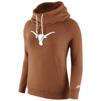 Texas Longhorns Nike Womens Rally Funnel Hood-Rewind Sweatshirt – Burnt Orange