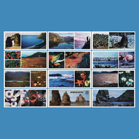 The Commander Islands (Komandorskiye Ostrova) - Set of 12  Vintage Photo Postcards - Printed in the USSR, «Planet», Moscow, 1975