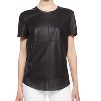 Short-Sleeve Perforated Tee, Size: