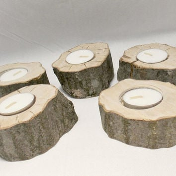 Beautiful MuscleWood Candle Holders - Rustic Candle Holder - Rustic Wedding - Woodland Candle - Rustic Home Decor - Tea Light Holder - Wood