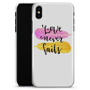 Yellow and Pink Love Never Fails - iPhone X Clipit Case