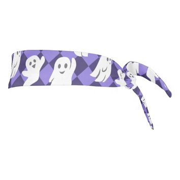 Halloween Ghosts Tie Headband
