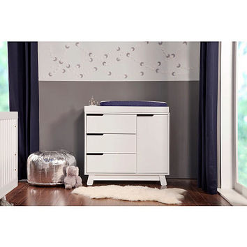 Babyletto Hudson 3 Drawer Changer Dresser with Removable Changing Tray - White