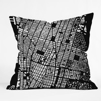 CityFabric Inc NYC Black Throw Pillow