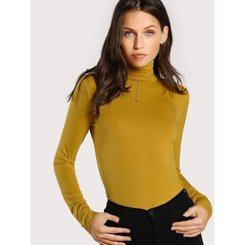 Turtleneck Slim Fit T-shirt