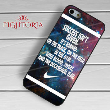 Success isn't Given Quote Nike - zZzA for  iPhone 6S case, iPhone 5s case, iPhone 6 case, iPhone 4S, Samsung S6 Edge