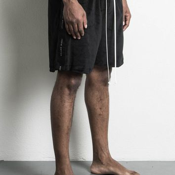 roaming gym short velour / black