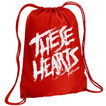 These Hearts Popcore Drawstring Backpack Red