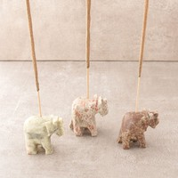 Stone Elephant Incense Holder