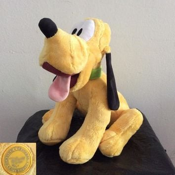Free Shipping 34cm 13.3'' Original Mickey Mouse Clubhouse Mickey's friend Pluto Dog Plush Toys Soft Boy Doll for gift