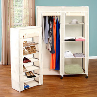 Wardrobe or Shoe Organizer with Cover