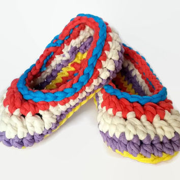 Kids Peppy Crochet Slippers
