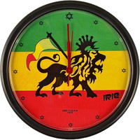 Rasta Lion - Wall Clock
