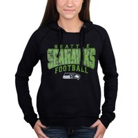 Women's Seattle Seahawks 5th & Ocean by New Era Navy Blue Pullover Hoodie