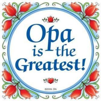 Dutch Gift Opa Wall Plaque Tile