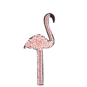 Bead-embellished flamingo brooch | HUDA AL NUAIMI | MATCHESFASHION.COM US