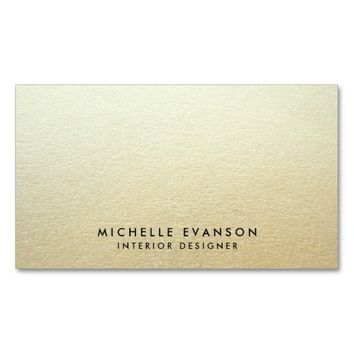 Minimal Gold Ombre Look Simple Professional Double-Sided Standard Business Cards (Pack Of 100)