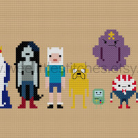 Pixel People - Adventure Time - PDF Cross-stitch PATTERN - Instant Download