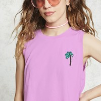 Cropped Palm Tree Tank Top