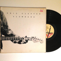OCTOBER SALE Vinyl Record Eric Clapton Slowhand LP Album 1977 Classic Rock Cocaine Peaches And Diesel