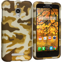Camo 2D Hard Rubberized Design Case Cover for Alcatel One Touch Fierce 7024W
