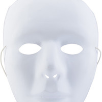 "white matte pvc mask - 9.75"" Case of 5"
