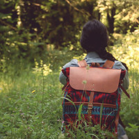 Leather and pendleton Excursion Pack- backpack / rucksack