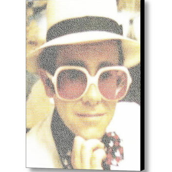 Elton John Every Song Mosaic INCREDIBLE Framed or Unframed Print Limited Edition. Choose your size.