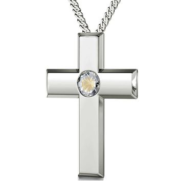 """The Lord's Prayer"" Modern Version, 925 Sterling Silver Necklace, Swarovski"