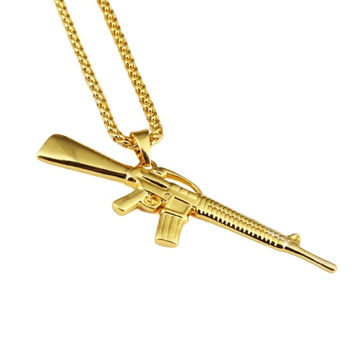 M-16 18K Gold Plated Necklace