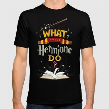What Would Hermione Do? T-shirt by Frying Sausage